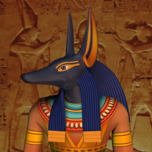 3d model anubis modeled