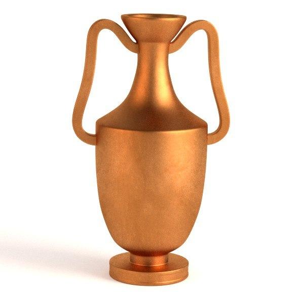 3d antique vase