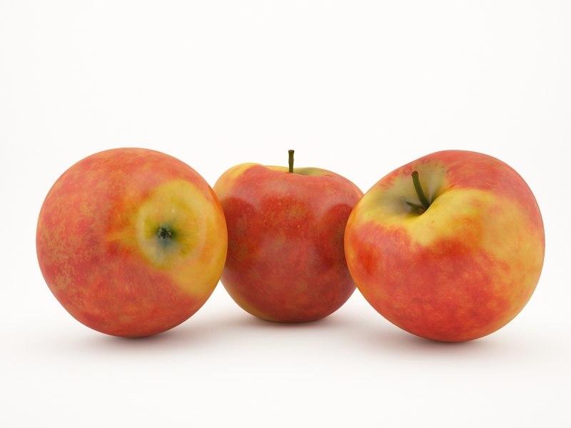apple fruit 3d model