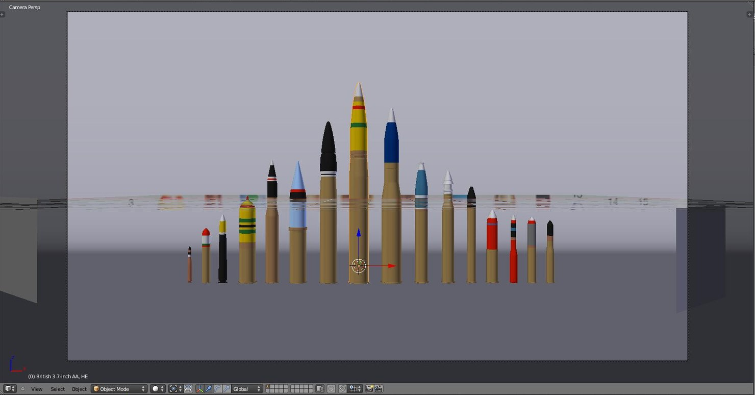 3d model aircraft bullets