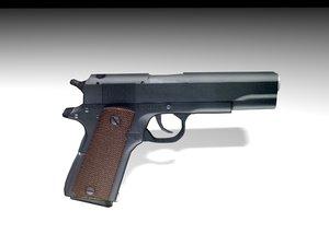 3ds max pistol colt 1911