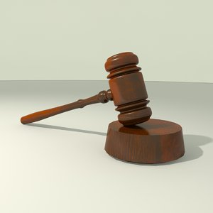 court gavel hammer 3d model