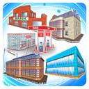 pack buildings toon 3d model