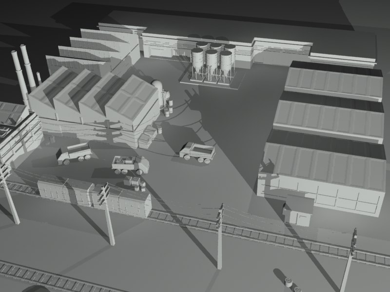 3ds max scene industrial