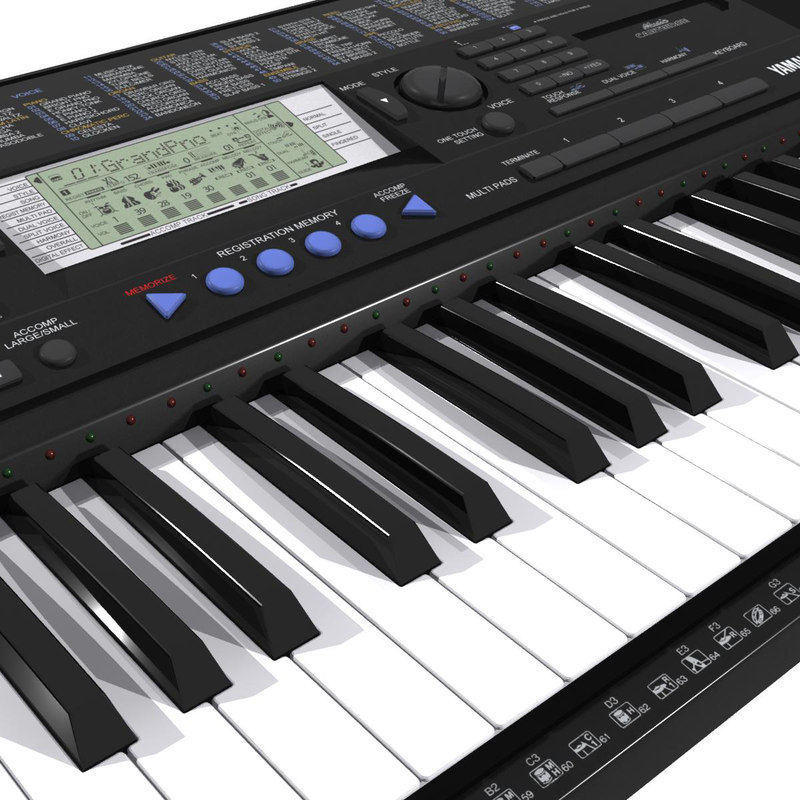 keyboard yamaha psr 3d model