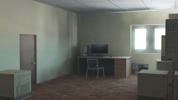 office scene level obj