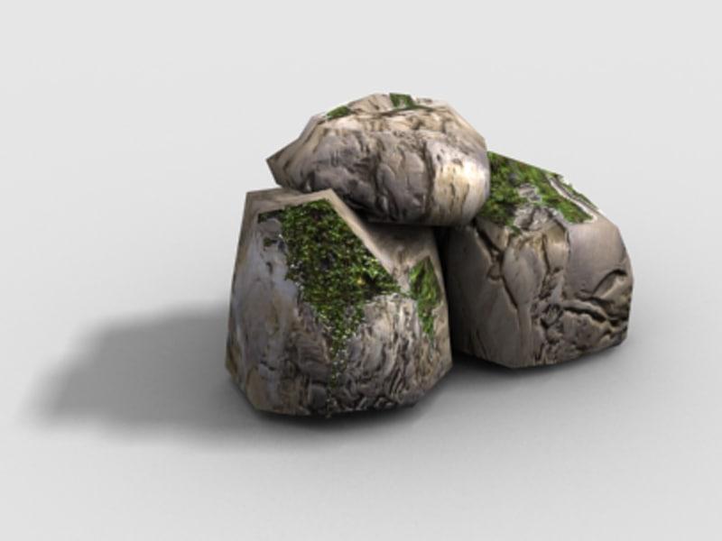 3d model polys - rock formation