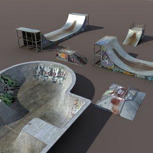 3d skate pipe