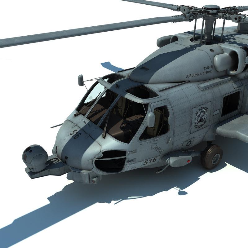 sh-60b sikorsky 3d max