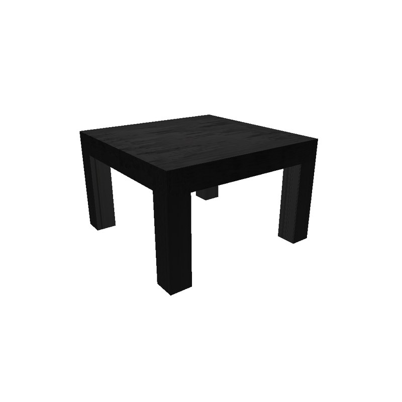 simple wooden black table ma