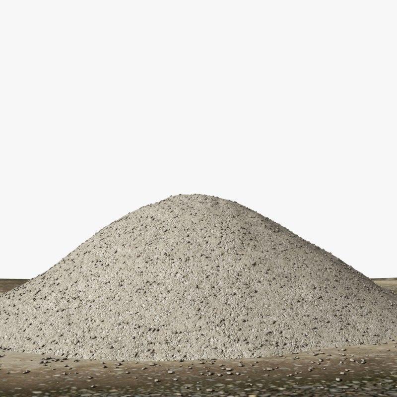 pile gravel 3d max