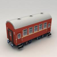 Lowpoly Modern Railway Coach