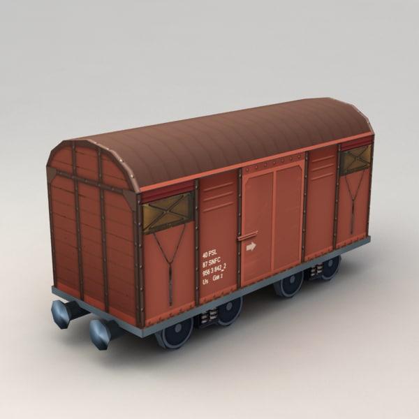 cargo wagon 3d max