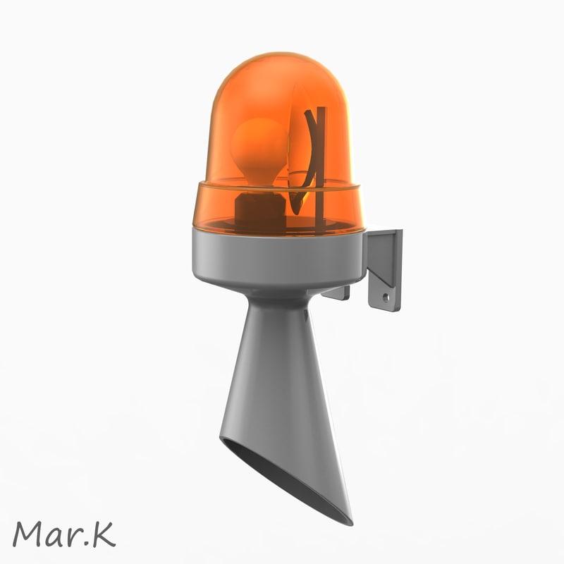 siren strobe light 3d model