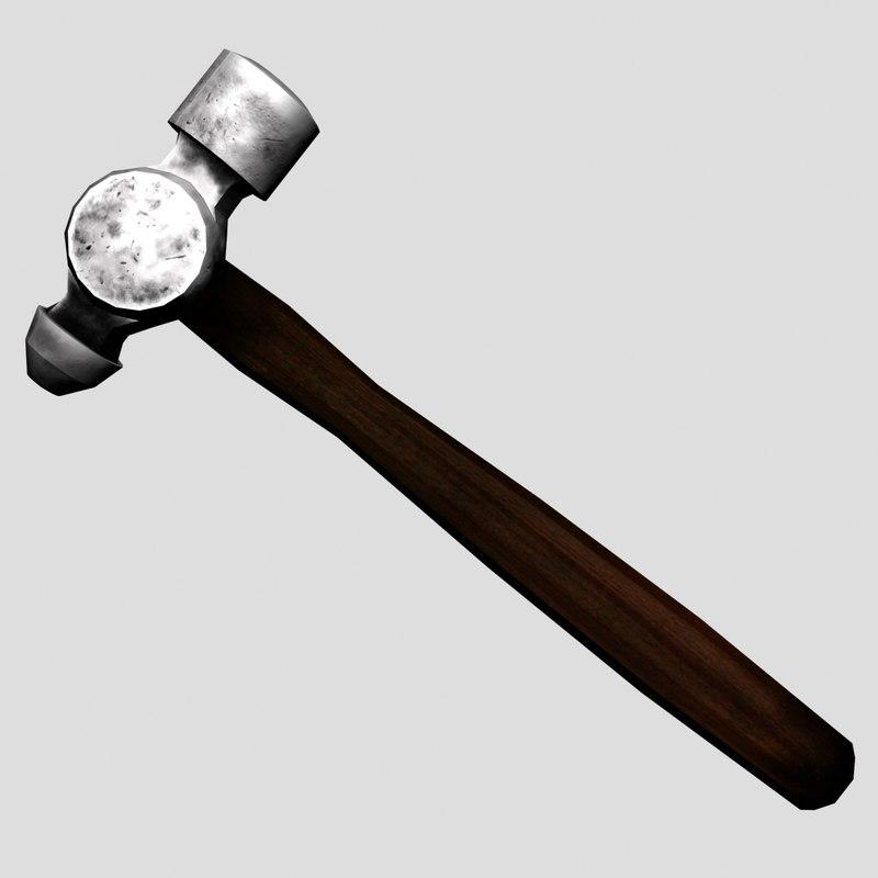 3d blacksmith hammer model
