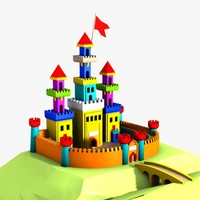 3d cartoon castle model