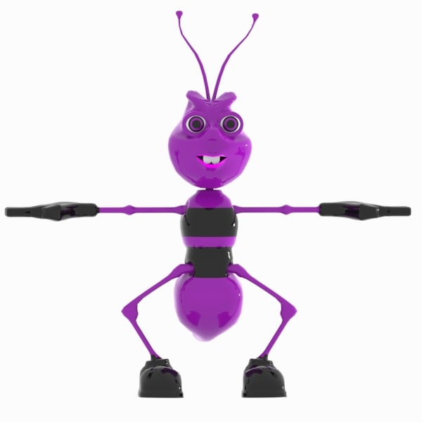 3d ant character model