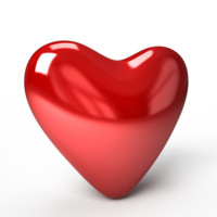 model valentine heart