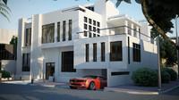 3d scene modern villa model