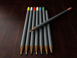 3d pencils model