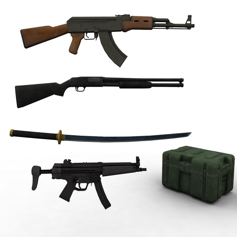 weapon rifle machine gun max