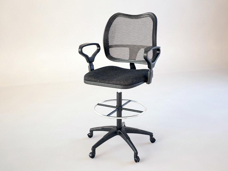 3d modern office chair model