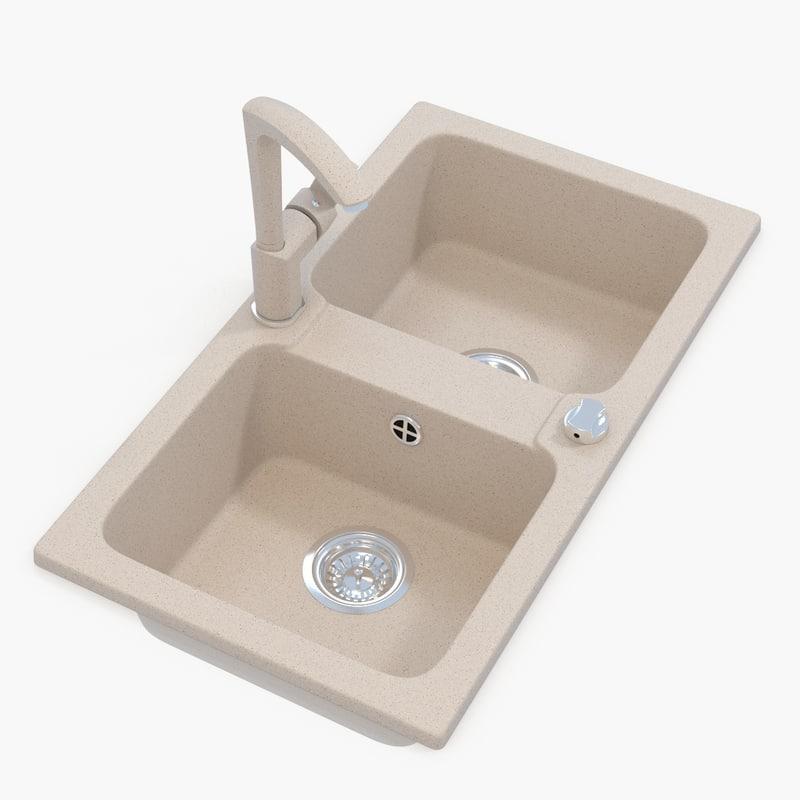 v-ray kitchen sink tap 3d obj