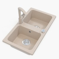 v-ray kitchen sink tap 3d obj
