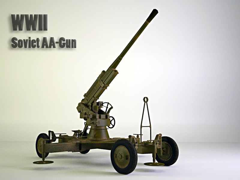 3d 85 mm air gun model
