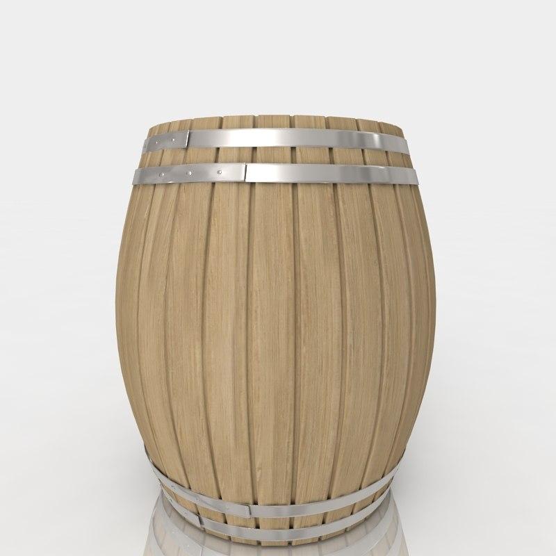 free barrel oak 3d model