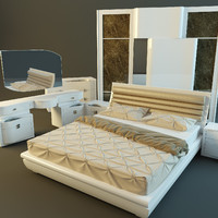 3d furniture bedroom rubino treci model