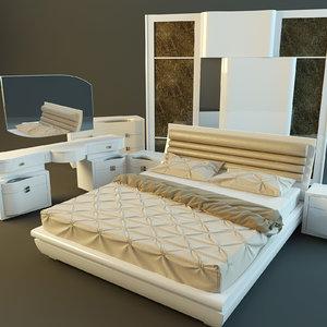 3d furniture bedroom rubino treci model