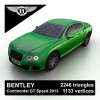2013 bentley continental gt 3d model