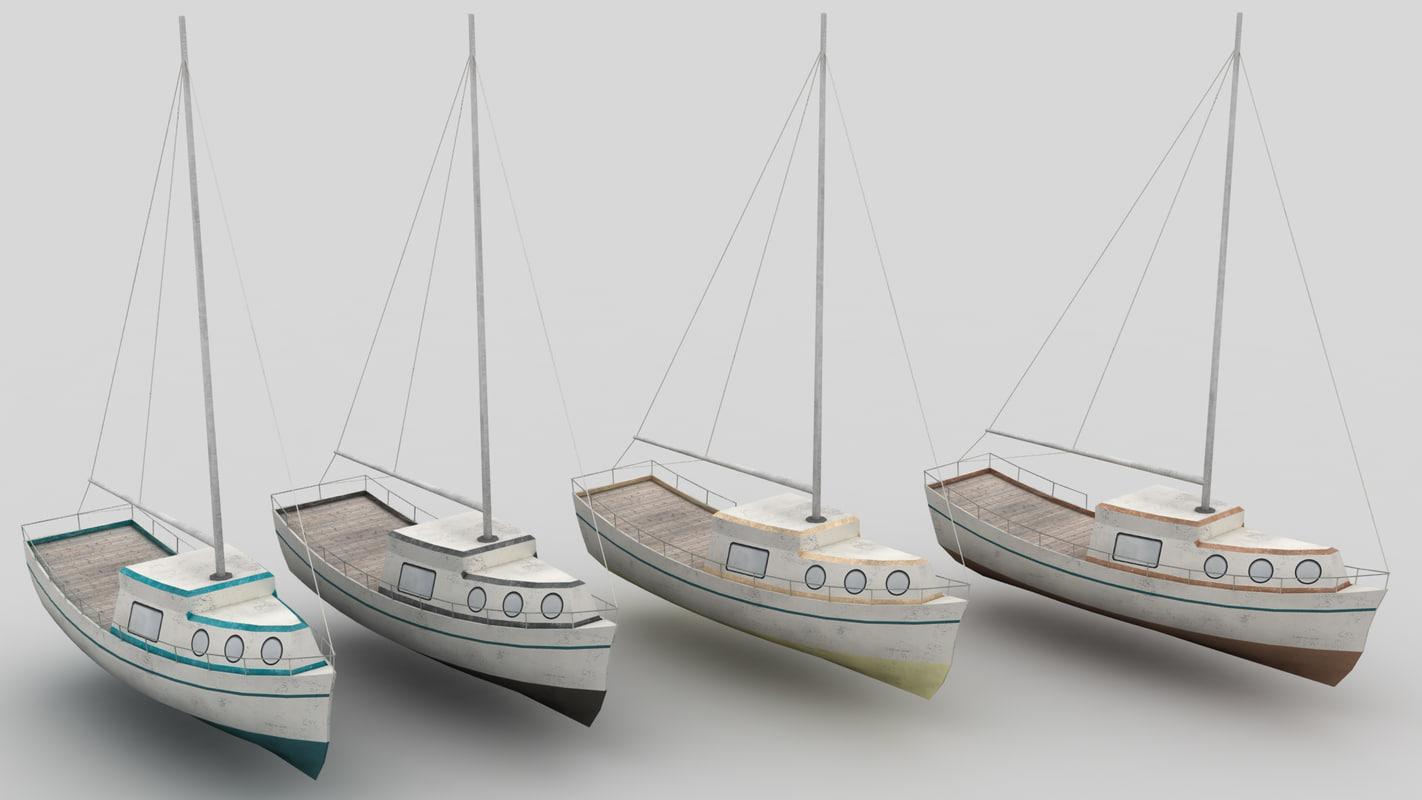 3d sailboat boat library