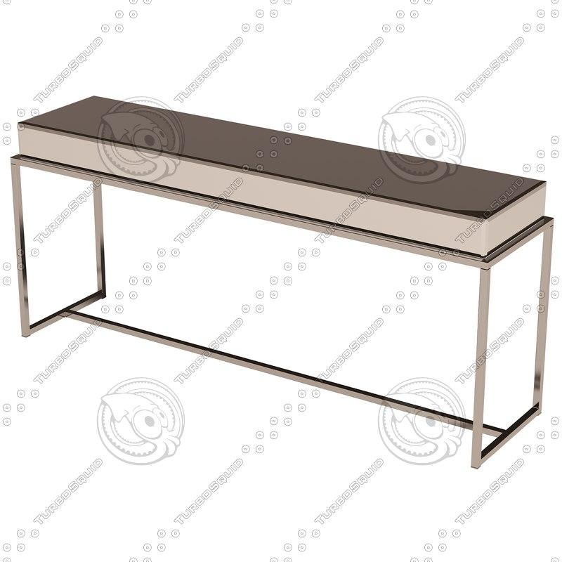 eichholtz table console beverly hills 3d 3ds