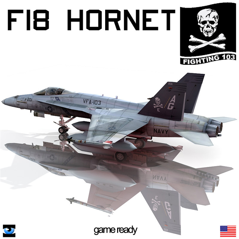 f18 hornet 3d model