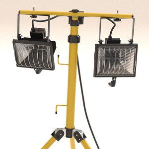floodlight outdoor lamps 3d c4d