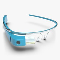 3d google glass sky model