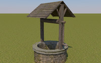 well medieval low poly