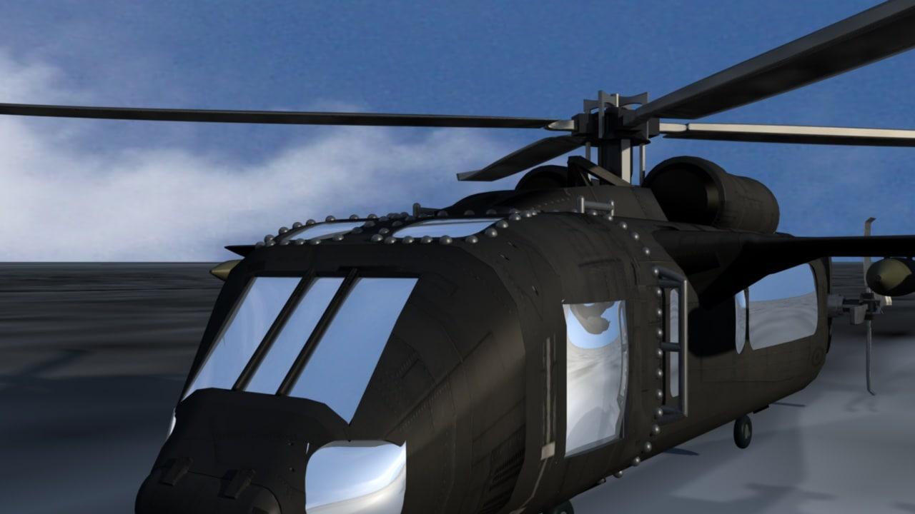 3 moel helicopter black