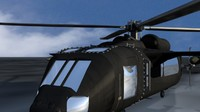 3 moel helicopter black