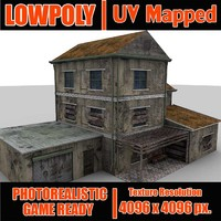 3d weathered house s model