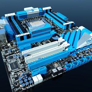 3d model asus p9x79 deluxe