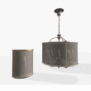 3d old river lamp