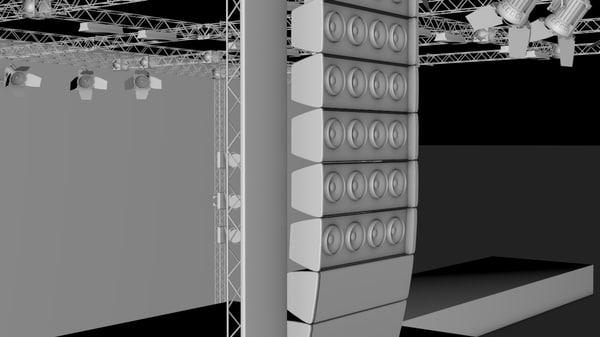 3d concerte stage truss model