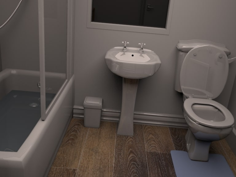bathroom sink bath 3d max