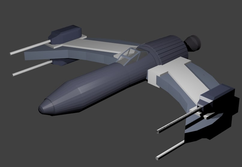 free blend mode space fighter