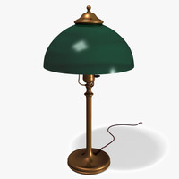 3d brass student desk lamp model