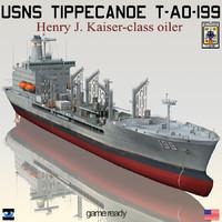USNS Tippecanoe T-AO-199 with CH-46