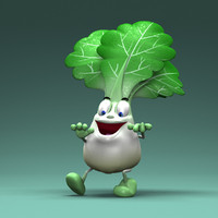 cartoon vegetables 3d max